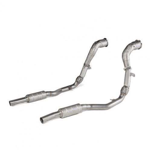 Akrapovic Downpipes Link Pipe Set Audi RSQ8 4M